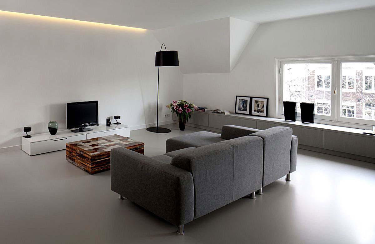 pavimenti in resina satinata grigio