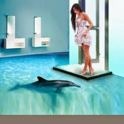 pavimenti in resina 3d con effetto mare