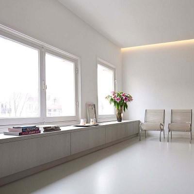 pavimenti in resina con arredamento minimal