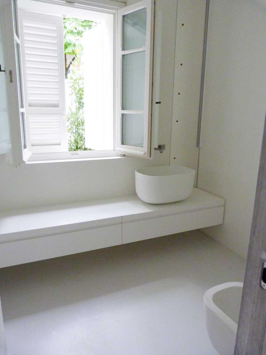 Pavimenti in resina per interni sistema infinity indoor - Pavimento e rivestimento bagno uguale ...