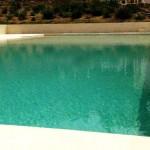 rivestimento piscina a sfioro forma rettangolare