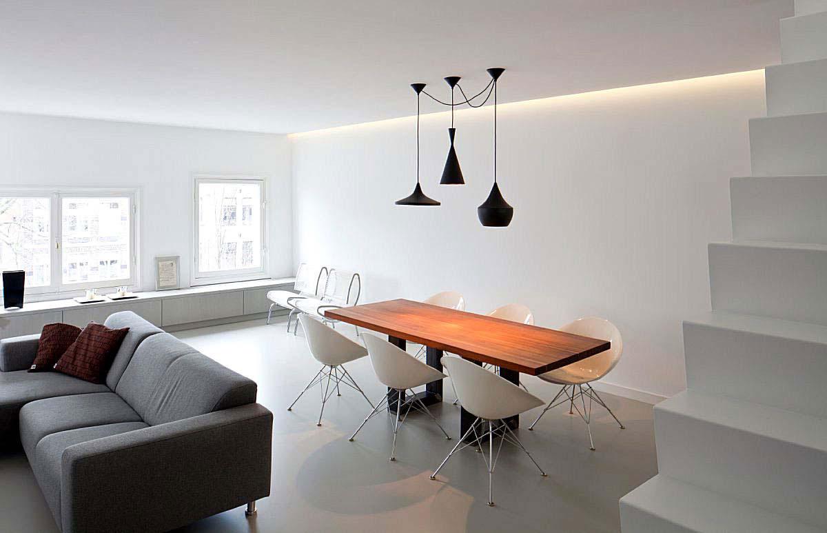 Resina per pavimenti grigio chiaro pavimento moderno