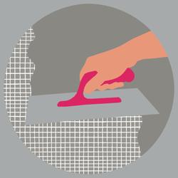 Applicazione rivestimento di fondo base per piscina