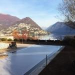 rivestimento piscina con sistema di copertura