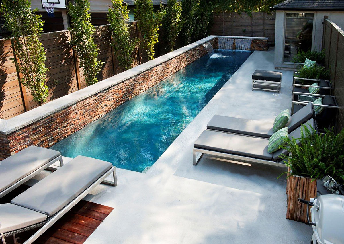 Rivestimento piscine in cemento armato muratura cls tadelakt moderno p - Piscine moderne ...