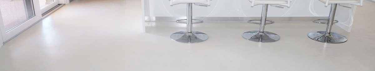 pavimento in resina bianca Infinity