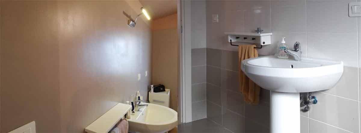 Immagini realizzazioni dei pavimenti in resina per interni - Resina piastrelle bagno ...