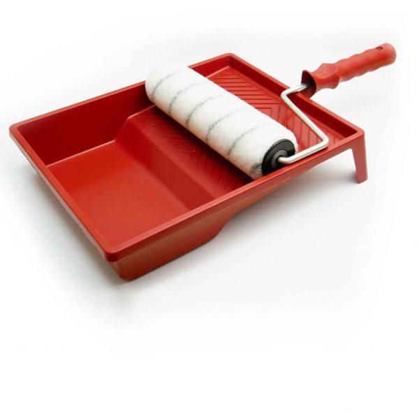 rullo con vaschetta per verniciare resine
